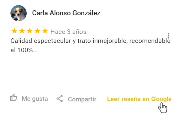 Reseña Google Catering